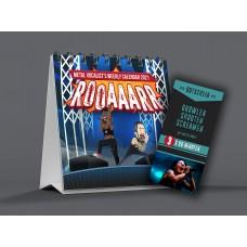 "Bundle: Table Calendar ""ROAAARR"" + 3x vocal coaching voucher"